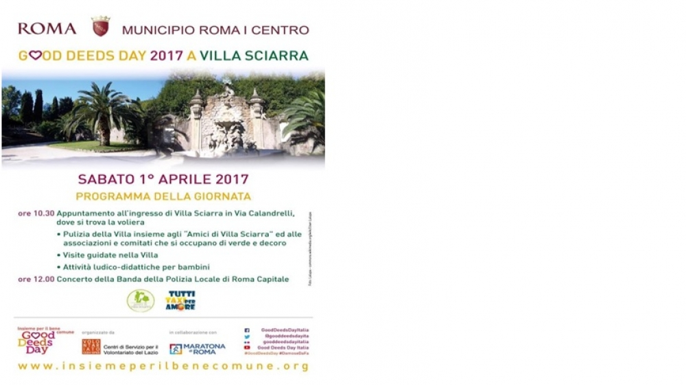Good deeds day a Villa Sciarra